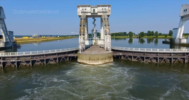 Lucht opnames van het Nederlandse water
